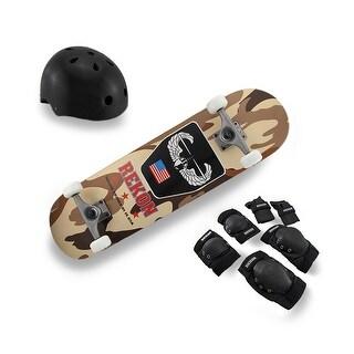Complete Rekon Skate Kit Maple Skateboard Desert Camouflage Graphics - Multicolored