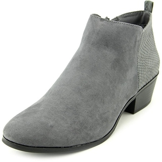 Style & Co Wess Women Round Toe Synthetic Gray Bootie