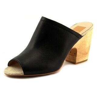 Dolce Vita Tegan  Women  Open Toe Leather Black Wedge Sandal