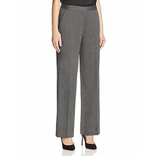 T Tahari NEW Black Gray Womens Size 16 Herringbone Staight Dress Pants