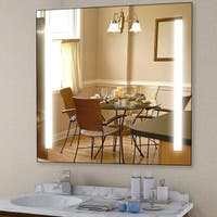 """Vanity Art 30"""" LED Lighted Illuminated Bathroom Vanity Wall Mirror with Rock Switch, Vertical Rectangle White Mirrors"""