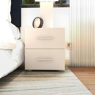 Link to Porch & Den Angus Foiled 2-drawer Nightstand Similar Items in Kids' & Toddler Furniture