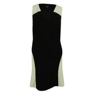 Spense Women's Sleeveless Dress - Black/Ivory - 18W