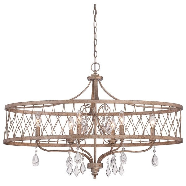 Minka Lavery 4407-581 6 Light Single Tier Chandeliers from the West Liberty Collection - olympus gold