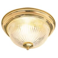 "Sunset Lighting F7500 2-Light 120 Watt 12"" Wide Flush Mount Ceiling Fixture"