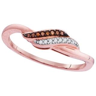 1/20Ctw Diamond Brown Fashion Ring Rose-Gold 10K