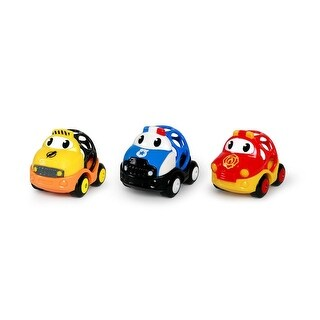 Oball Go Grippers Emergency Cars, 3 Pack