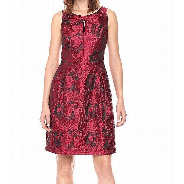 17aa99ab Shop Tommy Hilfiger Women's Rose Jacquard A-Line Dress - On Sale - Free  Shipping Today - Overstock - 27124225