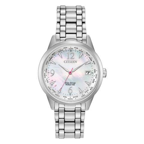 Citizen Women's FC8000-55D 'World Time' Stainless Steel Watch - Silver