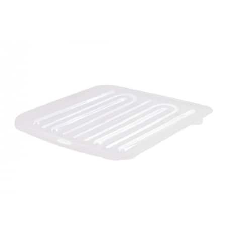 Rubbermaid 1182-MA-CLR Microban Antimicrobial Dish Drain Board, Large, Clear