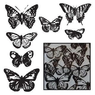 Transparencies Die-Cuts 14/Pkg-Vintage Butterflies - Black