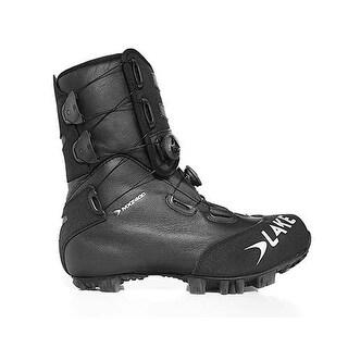 Lake Men's Black/Silver MXZ400 Winter Cycling Size 40 EU 6 US Boots