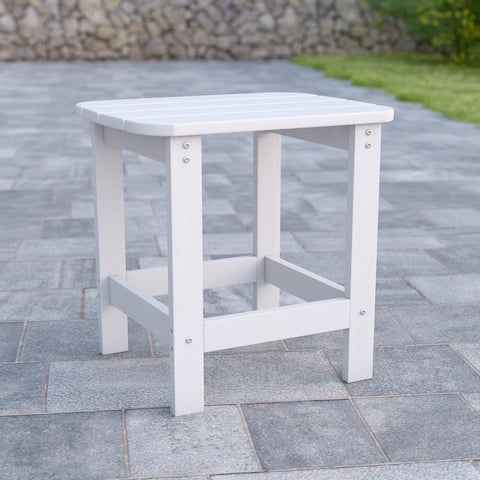 All-Weather Poly Resin Adirondack Side Table - Patio Table