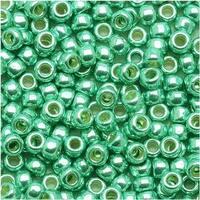 Toho Round Seed Beads 8/0 PF561 - Permanent Finish Galvanized Green Tea (8g)