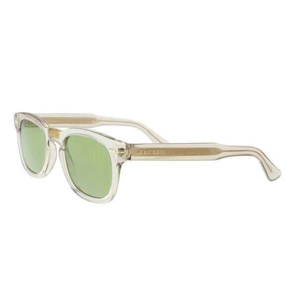 7237b140082 Shop Gucci GG0182S-005 Clear Gold Square Sunglasses - 49-24-145 ...