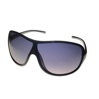 Perry Ellis Mens Sunglass PE09 01 Black Plastic Shield, Smoke Gradient Lens - Medium