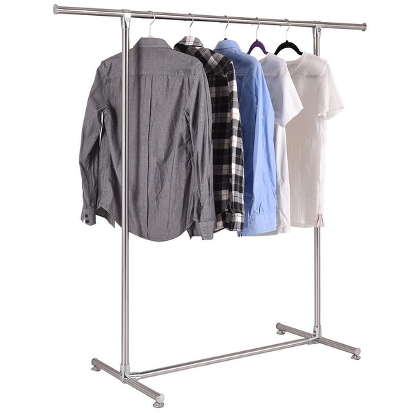 Portable And Expandable Garment Rack In Black Chrome 18 Months Interesting Shop Costway Heavy Duty Stainless Steel Garment Rack Clothes Hanging