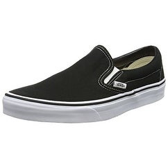 Vans Men's Classic Slip on Skate Shoes, Black, 10 D(M) US