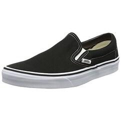 Vans Men's VANS CLASSIC SLIP ON SKATE SHOES 11.5 (BLACK)