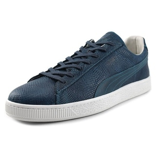 Puma States MII Men Round Toe Leather Blue Sneakers
