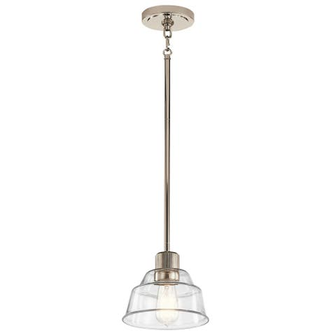 Kichler Eastmont 1 Light Mini Pendant with Clear Glass in Polished Nickel