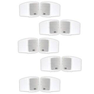 Acoustic Audio AA321W Indoor Mount Speakers 2000W White 5 Pair Pack AA321W-5Pr