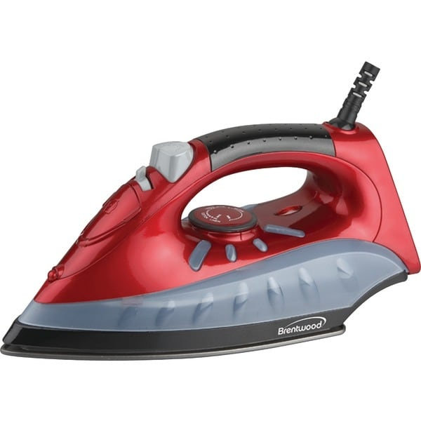 Brentwood Mpi-61 Non-Stick Steam/Dry, Spray Iron (Red)