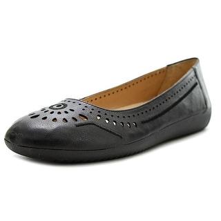 Naturalizer Kana Women Round Toe Leather Black Flats