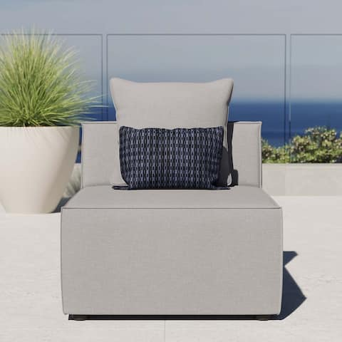 Saybrook Outdoor Patio Upholstered Sectional Sofa Armless Chair
