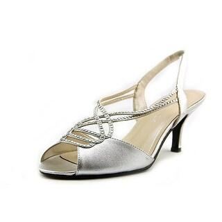 Caparros Womens PHILOMENA Canvas Open Toe Formal Slingback Sandals