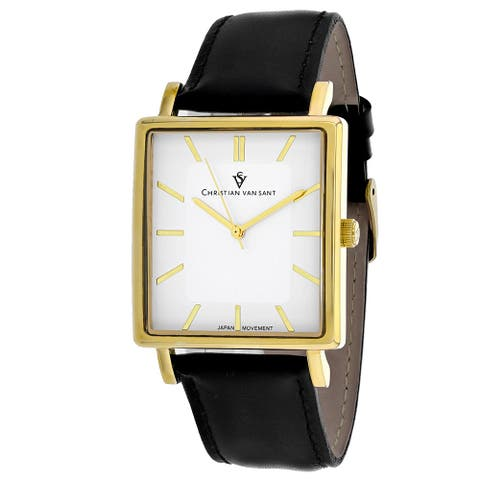 Christian Van Sant Men's Ace White Dial Watch - CV0432 - One Size