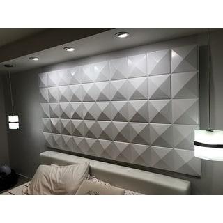 3D Plant Fiber Diamond Design Wall Panels (Set of 10)