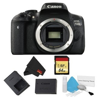 Canon EOS 750D DSLR Camera Body Only Basic Bundle (Intl Model)