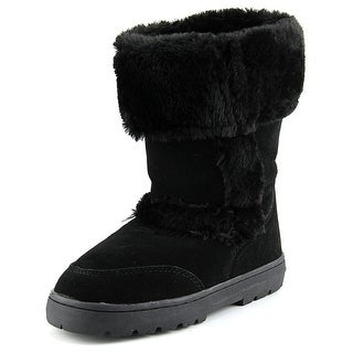 Style & Co Witty Women Round Toe Suede Black Winter Boot