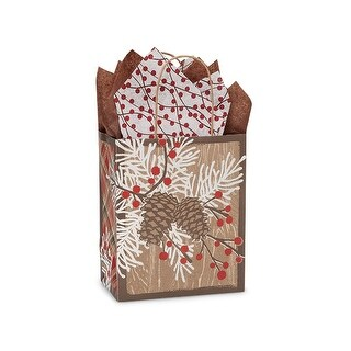"""Pack of 25, Cub Woodland Berry Pine Bags 8 X 4.75 X 10.25"""" 100% Recyclable, Made In Usa"""