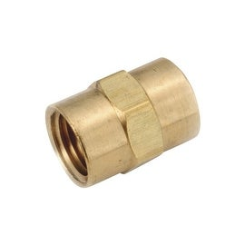 AMC 1/2 Coupling Ylw Brass