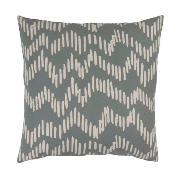 "20""Broken Lines Rhinoceros Gray and Khaki Brown Decorative Throw Pillow - Down Filler"
