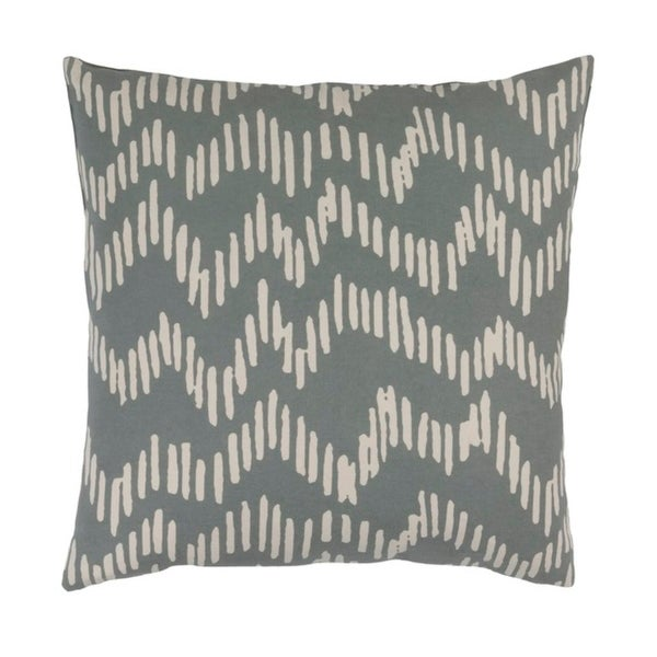 "22""Broken Lines Rhinoceros Gray and Khaki Brown Decorative Throw Pillow"
