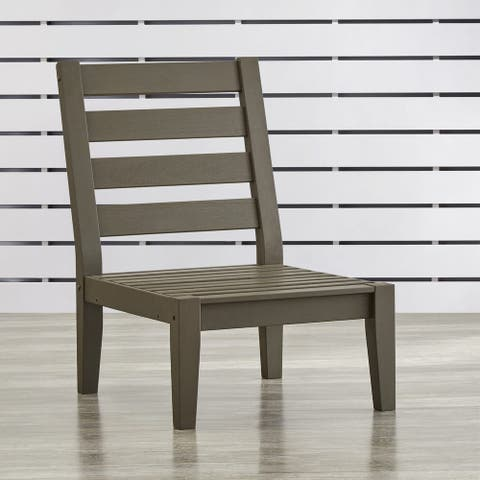 Moosonee Modern Grey Outdoor Sectional Wood Middle Chair by Havenside Home