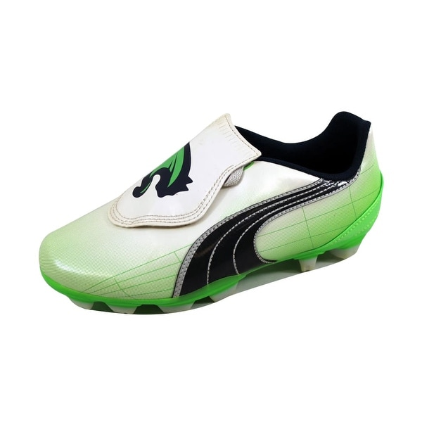 Puma Women's V4 11 FG Vapor Grey/Green-Midnight Navy 102356 01