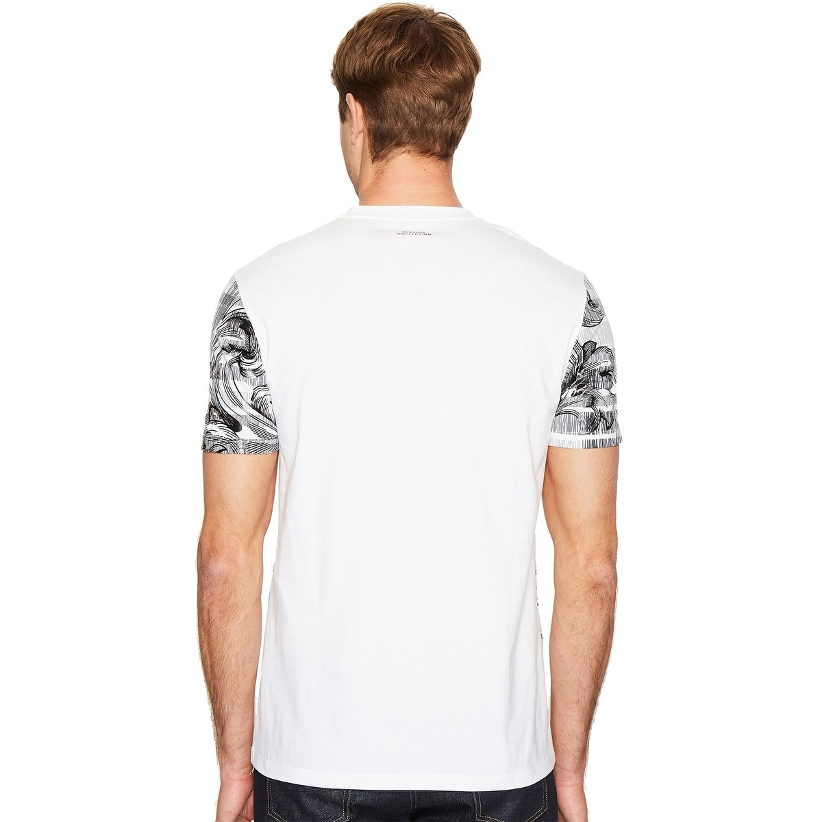 115df274 Shop Versace Collection Mens Baroque Print T-Shirt Medium M Black White -  Free Shipping Today - Overstock.com - 23007045