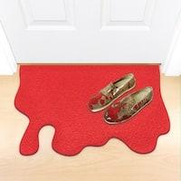 """Red Blood Splatter Doormat - Halloween Decor - 24"""" x 18"""""""