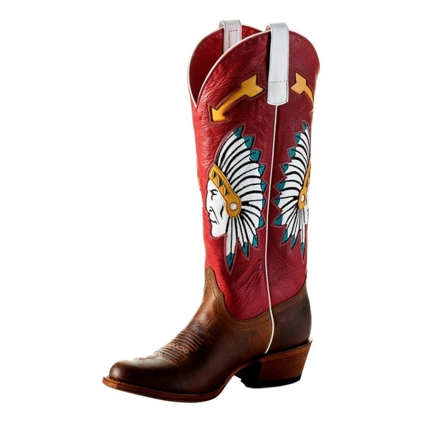 Macie Bean Western Boots Womens Chief So Cute Roper Toast Bison