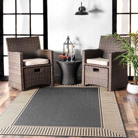 nuLOOM Asha Simple Border Indoor/Outdoor Area Rug