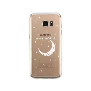 Samsung Galaxy S7 Transparent Matching Phone Cover (Moon & Back Right)