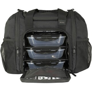 6 Pack Fitness Expert Innovator Mini Meal Management Bag - Stealth - One size