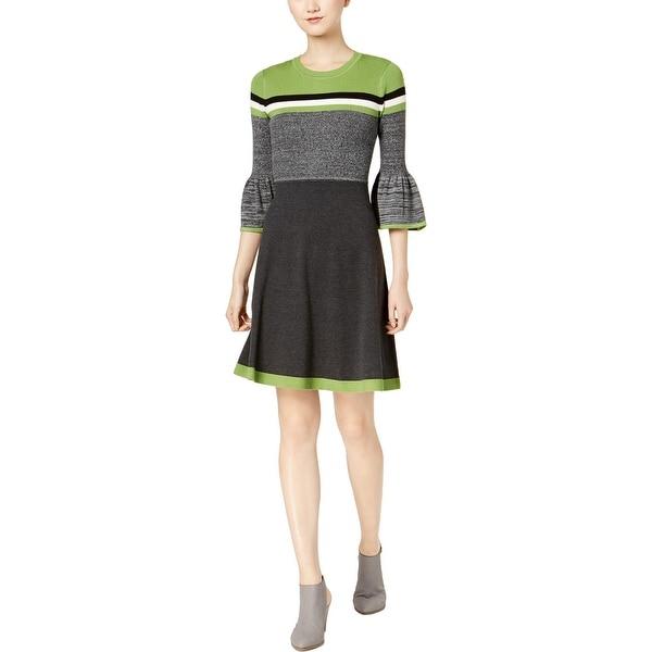 Jessica Howard Womens Sweaterdress Striped Above Knee