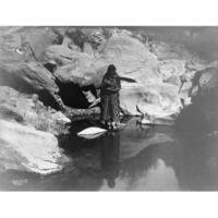 Navajo Woman - Curtis - Vintage Photo (100% Cotton Towel Absorbent)