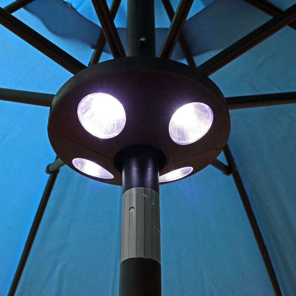 Sunnydaze Patio Umbrella LED Light - Black - Thumbnail 5