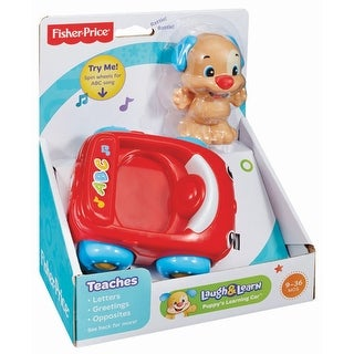 Fisher-Price Laugh & Learn Puppy's Learning Car - Red